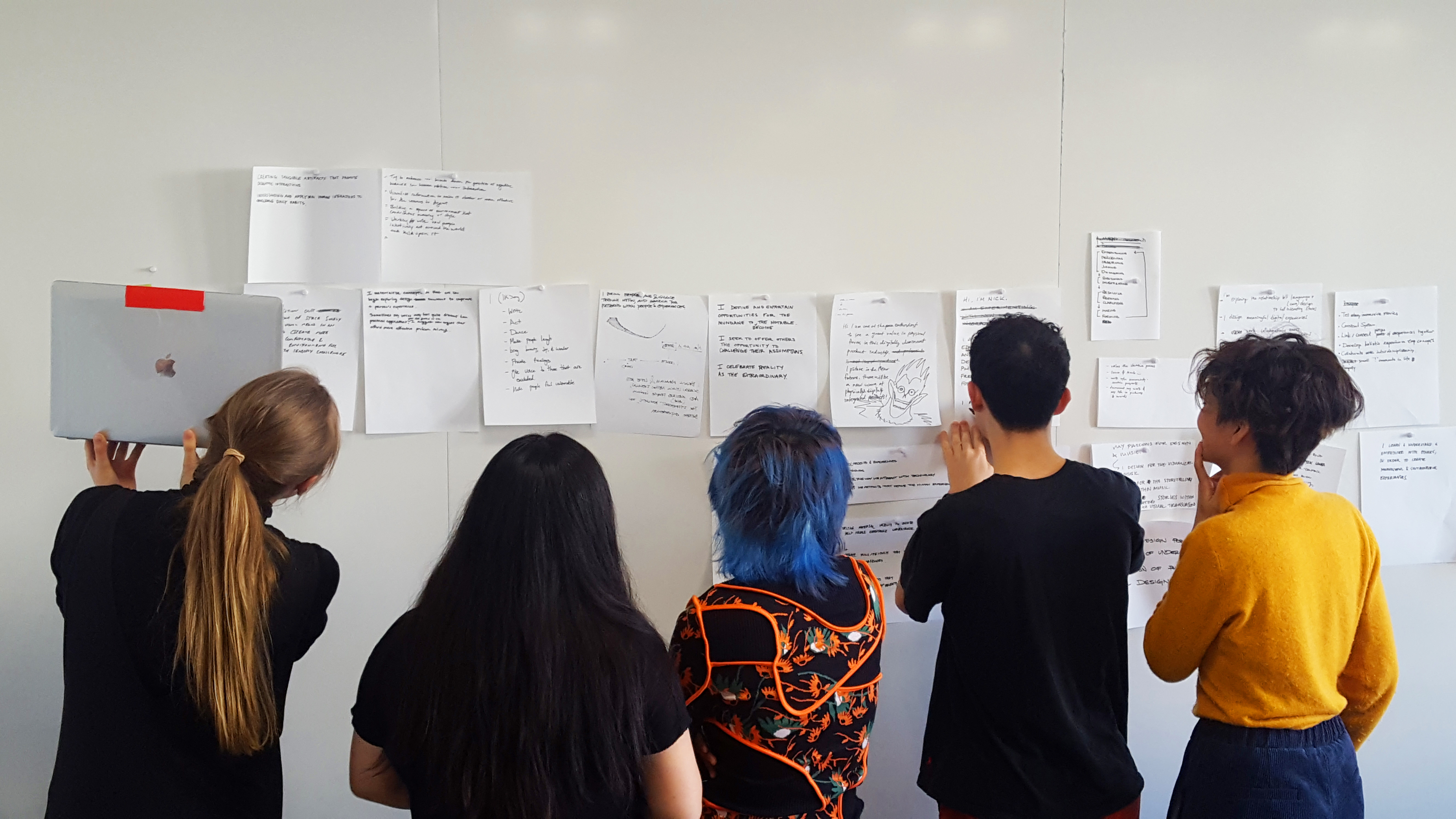Introductions workshop with undergraduates at the Carnegie Mellon School of Design