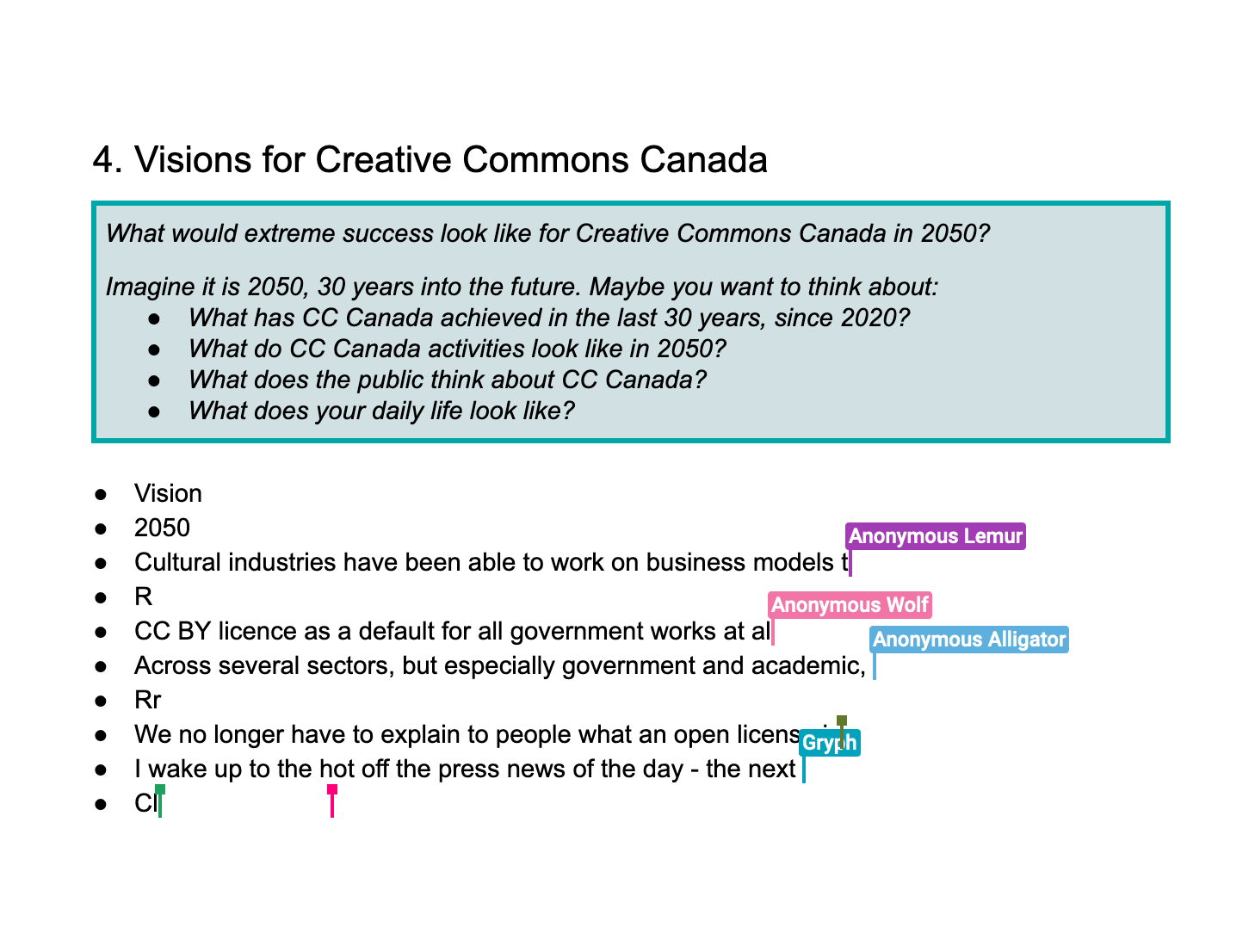 Exploring Futures with Creative Commons Canada